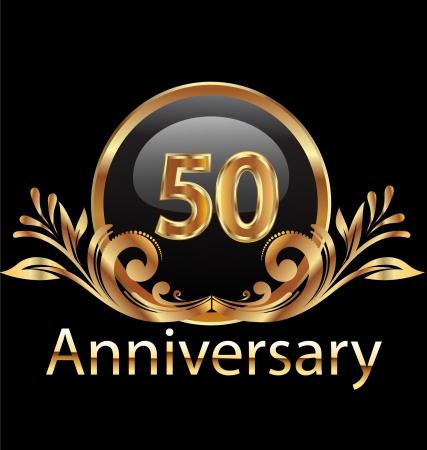 50 jaar verjaardag in goud