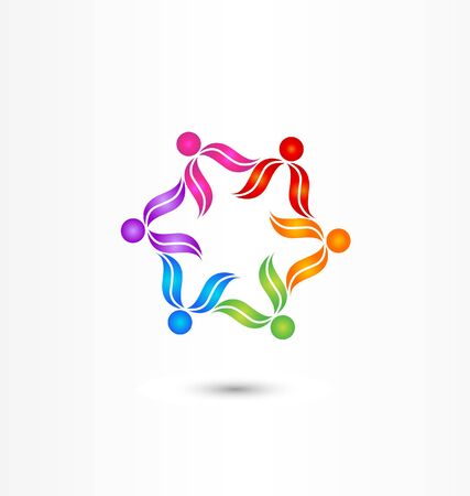 Teamwork diversity icon vector Vector
