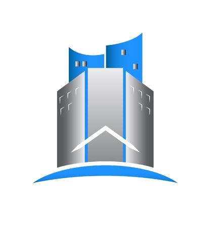 Real estate buildings icon Stock Vector - 19475680