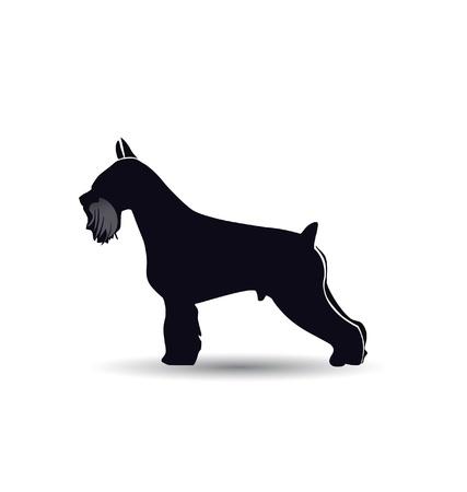 terriers: Schnauzer dog silhouette