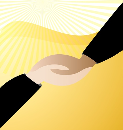 Handshaking business  Vector