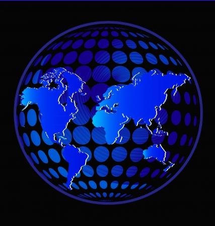 輝く青い色ベクトルの地球