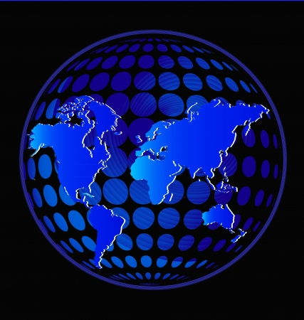 Earth in glowing blue color vector Vector