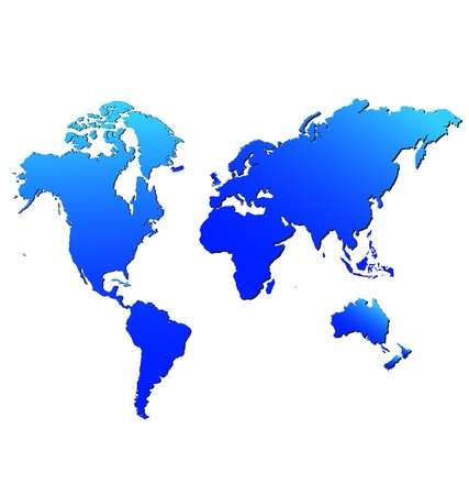 mapas conceptuales: Mapa del mundo aislado Vectores