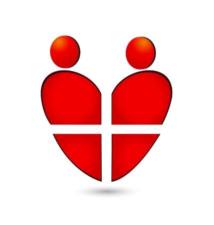 Medical heart teamwork Stock Vector - 19621495