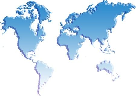 Wereldkaart geïsoleerde achtergrond Stockfoto