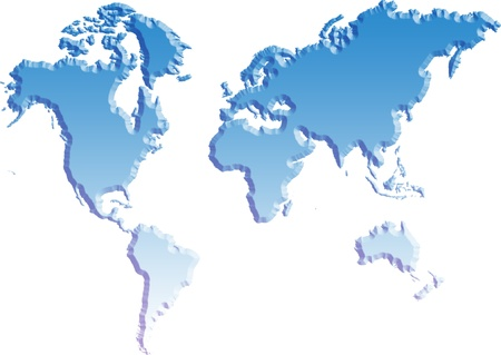 World map isolated background photo