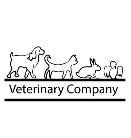 Huisdieren silhouetten ontwerp vector