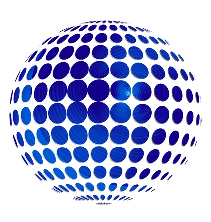 Blue sphere background vector
