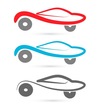 car tire: cars silhouettes image vector