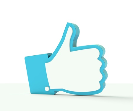 3D thumb up social media illustration photo illustration