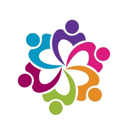 Teamwork Gewerkschaft Menschen Elementvektor Standard-Bild - 20273040