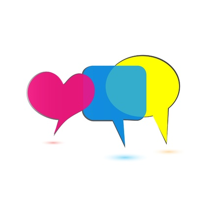 Speech bubbles social media logo Vector