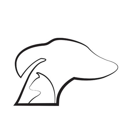 Kat en hond silhouetten icoon Stock Illustratie
