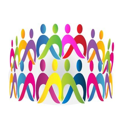 la union hace la fuerza: Trabajo en equipo reuni�n gente de dise�o Vectores