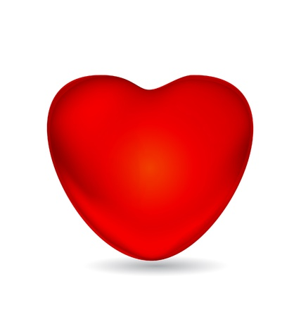 Heart glossy illustration  Vector