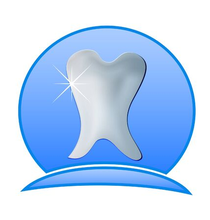 Dentistry illustration -Tooth dental icon  Vector
