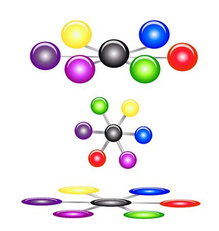 Set of organization balls business concepts  Vector