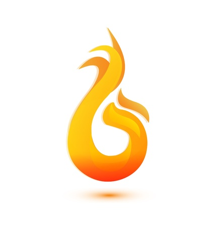 flames stylized icon illustration Stock Vector - 21454375
