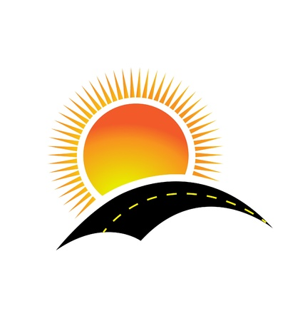 road to the sun illustration design Vector