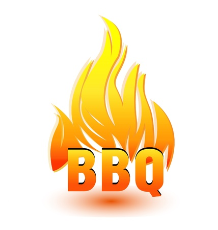 Hot barbecue illustration design Vector