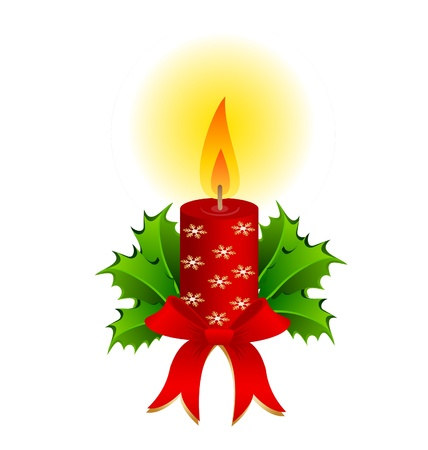 Christmas candle Stock Vector - 21454572