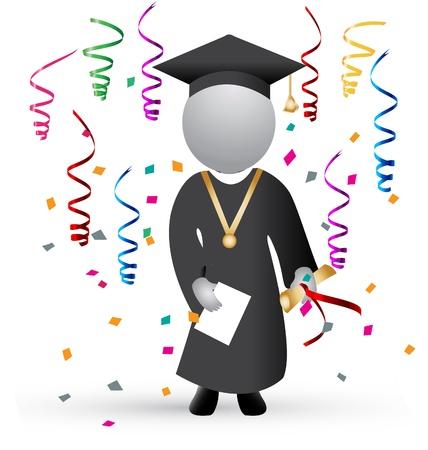 卒業の日、お祝いの背景