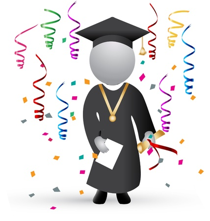 Graduation day and celebration background Vector