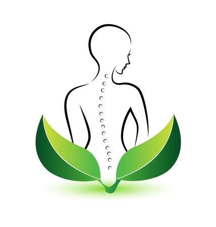 Human Spine icon illustration vector Çizim