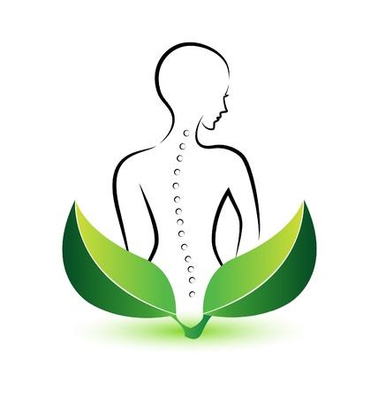 colonna vertebrale: Spina dorsale umana icona illustrazione vettoriale Vettoriali
