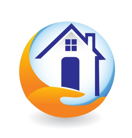 housing estate: House icon illustration for company