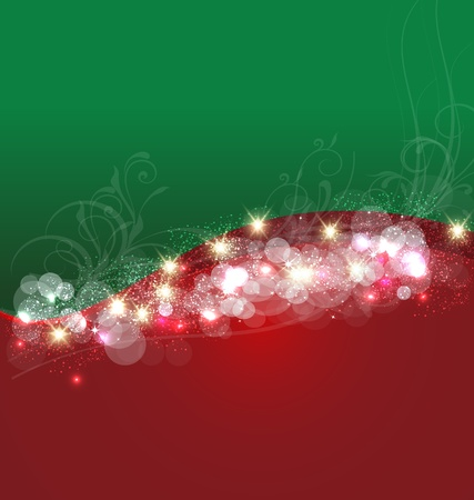 crystal background: Christmas background template card vector