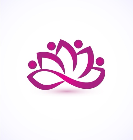 energy healing: Purple lotus flower