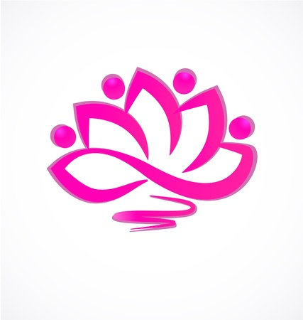 energy healing: Lotus flower icon