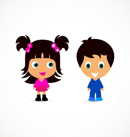 Little children illustration creative design Vector