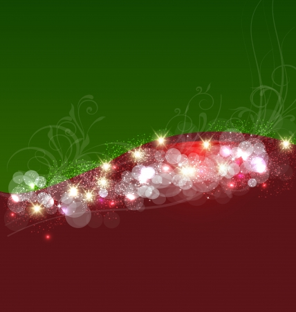 Christmas swirl background template image Stock Vector - 22035131