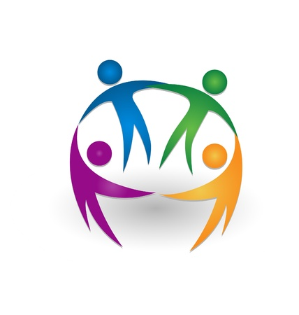 People together teamwork icon  Vector