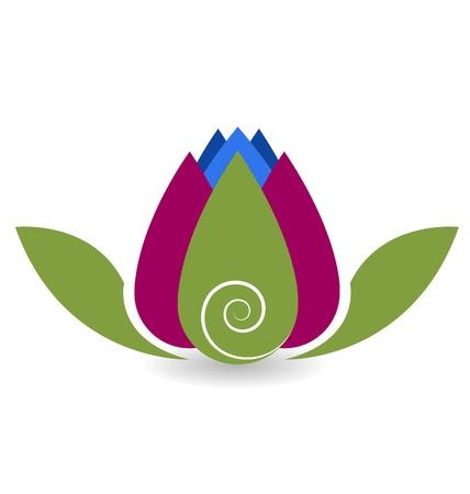 Swirly lotus flower yoga meditation vector