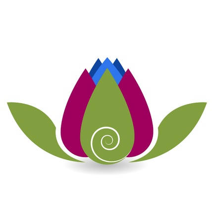 lotus: Swirly lotus flower yoga meditation vector