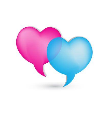 Love speech bubbles icon vector Stock Vector - 22073628