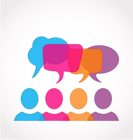 Social media network speech bubbles Vector