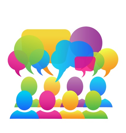 chat: Business social media network speech bubbles