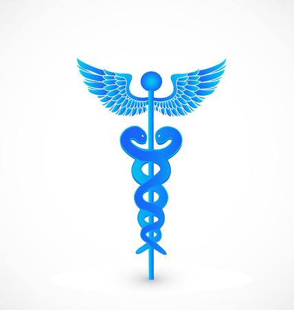 medical symbols: Blue medical symbol icon