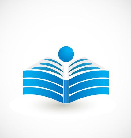 educación: Abrir el libro de diseño de iconos Vectores