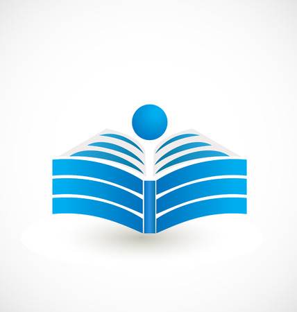 digital book: Open book icon design Illustration