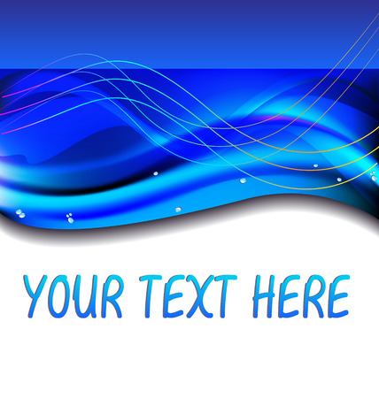Abstract blue ocean  template Stock Vector - 22527558