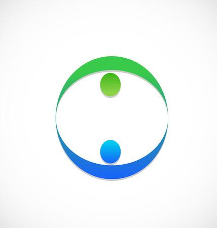 Partner Business-Team Menschen Symbol Standard-Bild - 22527560