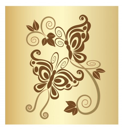 Butterflies vintage design Vector