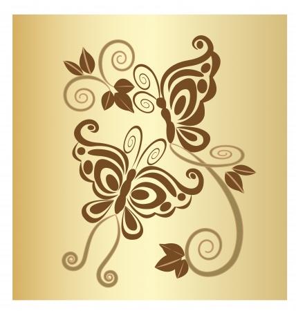 Vlinders vintage design Stock Illustratie