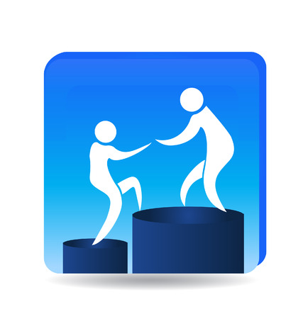 highs: Climbing to success goals icon  Illustration